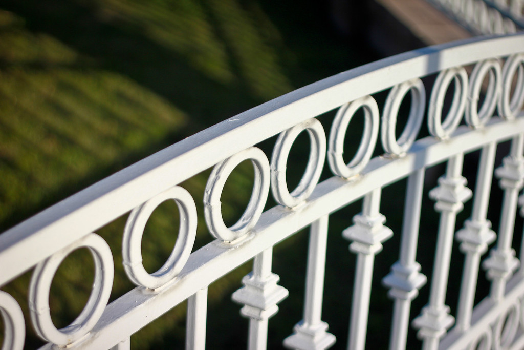 wrought iron fence - Orange, CA - a sample of shallow depth of field - light and aperture in photography